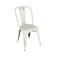Cadeira Aço Soho Vintage Rosa 84x54cm