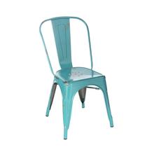 Cadeira Aço Soho Vintage Verde 84x54cm