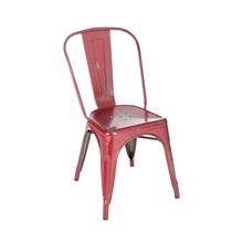Cadeira Aço Soho Vintage Vermelha 84x54cm