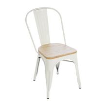 Cadeira Aço Wood Soho Branca 84x54cm