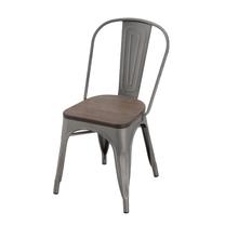 Cadeira Aço Wood Soho Marrom 84x54cm