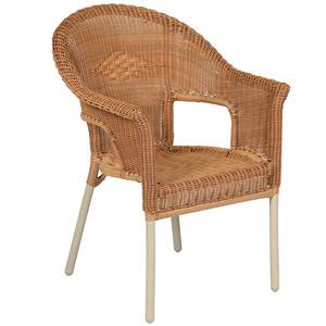 Cadeira Alumínio Empilhável Fiore Marfim 86x65cm Butzke