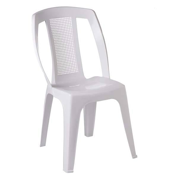 Cadeira pl stico bistro paris branco 88x50cm leroy merlin for Sillas de jardin de plastico
