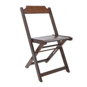 Cadeira Dobrável Casual Madeira Natural sem Braço 43x43x42cm Art Garden