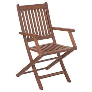 Cadeira Dobrável Ipanema com braços Eucalipto com FSC Stain Nogueira Butzke