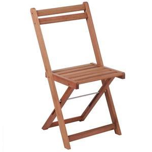 Cadeira Dobrável Lytus Acácia Madeira Marrom Metalnew