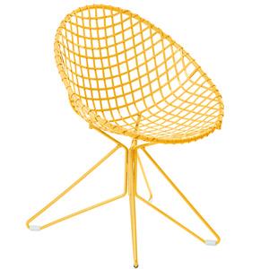 Cadeira Ferro Fun Amarelo 85x62,50cm Butzke