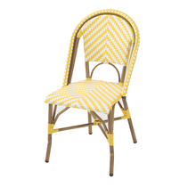 Cadeira Fibra Búzios Amarela 88x56cm