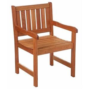Cadeira Lyptus Madeira Marrom com Braço Metalnew