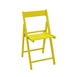 Cadeira Madeira Aconchego Amarela 23x18,50cm Tramontina