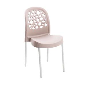 Cadeira Plástico Deluxe Bege 85x41cm