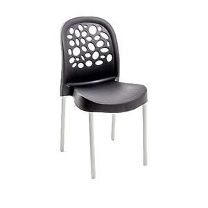 Cadeira Plástico Deluxe Preta 85x41cm