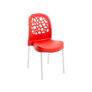 Cadeira Plástico Deluxe Vermelha 85x41cm