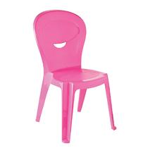 Cadeira Plástico Infantil Vice e Versa Rosa 71x38cm
