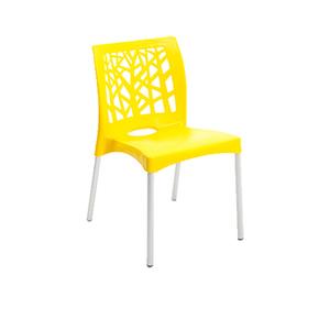 Cadeira Plástico Nature Amarela 81x42cm