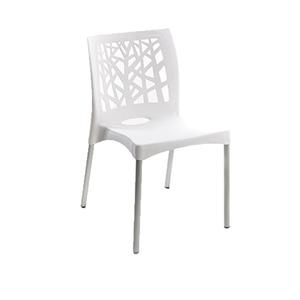 Cadeira Plástico Nature Branca 81x42cm