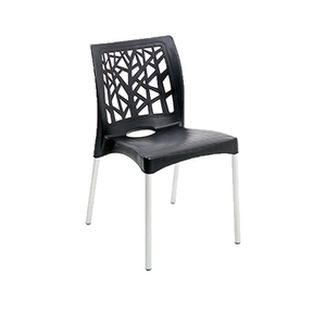 Cadeira Plástico Nature Preta 81x42cm