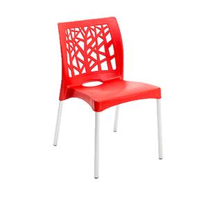 Cadeira Plástico Nature Vermelha 81x42cm