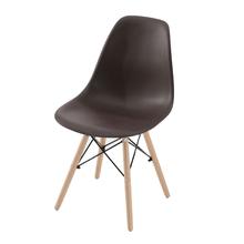 Cadeira Plástico Pé Palito Marrom 83x47cm