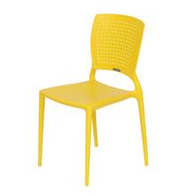 Cadeira Plástico Safira Amarela 82x43cm