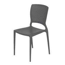 Cadeira Plástico Safira Grafite 82x43cm