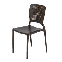 Cadeira Plástico Safira Marrom 82x43cm