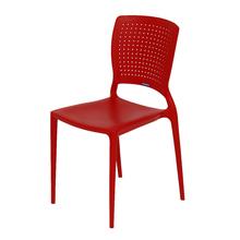 Cadeira Plástico Safira Vermelha 82x43cm