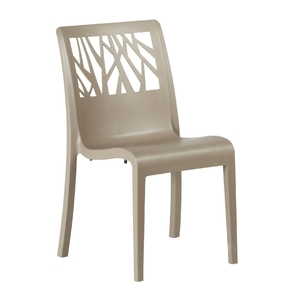 Cadeira Polipropileno Vegetal Bege 88x58cm Grosfillex