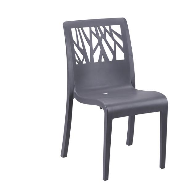 Cadeira pl stico vegetal cinza escuro 88x58cm grosfillex for Tejas de plastico leroy merlin