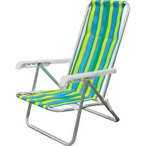 Cadeira Reclinável 4 Posições Alumínio 84,50X53cm Sortida Mor