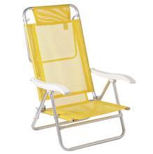 Cadeira Reclinável Sol De Verão Alumínio 88X57cm Amarela Mor
