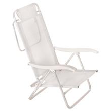 Cadeira Reclinável Sol De Verão Alumínio 88X57cm Branca Mor
