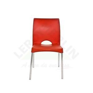 Cadeira Resina/Alumínio Milão Laranja Dolfin