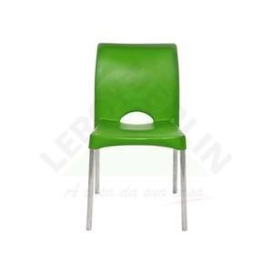 Cadeira Resina/Alumínio Milão Verde Dolfin