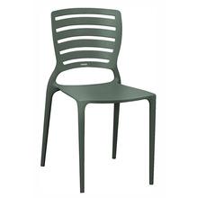 Cadeira Resina/Fibra de Vidro Encosto Vazado Sofia Cinza Grafite 83x42cm Tramontina