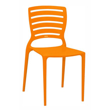 Cadeira Resina/Fibra de Vidro Encosto Vazado Sofia Laranja 83x42cm Tramontina