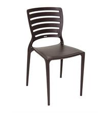 Cadeira Resina/Fibra de Vidro Encosto Vazado Sofia Marrom 83x42cm Tramontina
