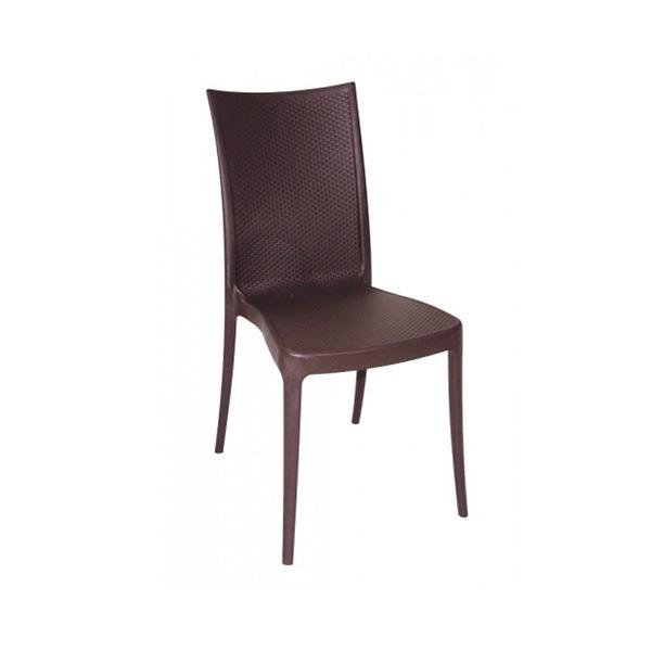 Cadeira pl stico laura marrom 87 50x46cm leroy merlin for Tejas de plastico leroy merlin