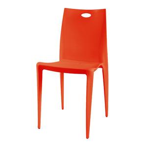 Cadeira Resina Royal Laranja 92x55cm Importado
