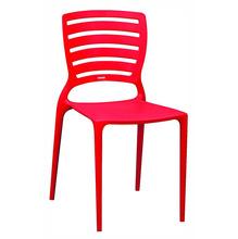 Cadeira Resina e Fibra de Vidro Encosto Vazado Sofia Vermelho 83x42cm Tramontina