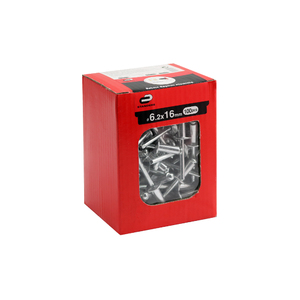 Caixa 100 Rebite Repuxo Alumínio 6,2x16 Standers