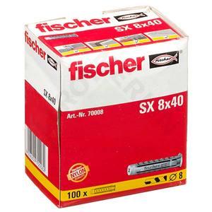 Caixa com 100 Buchas SX 8mm Fischer