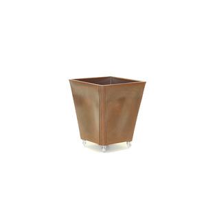 Caixa Cônica Resina com Roda Cairo 50X48cm Chocolate Alpearitana