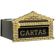 Caixa Correio Ouro 15 cmx25 cm Para Muro AL5-004 OURO Decorarte