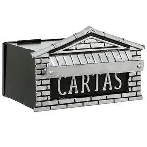 Caixa Correio Prata 15 cmx20 cm Para Grade AL0-026 Decorarte