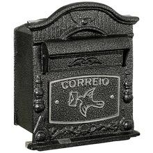 Caixa Correio Prata 24 cmx19,5 cm Para Grade/Muro 41 Prates & Barbosa