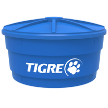 Caixa d'Água de Polietileno com Tampa 1500L Azul Tigre