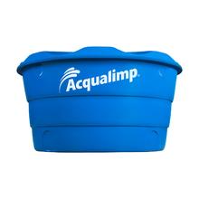 Caixa d'água de Polietileno 2000L Dupla Proteção Azul 1,26m Acqualimp