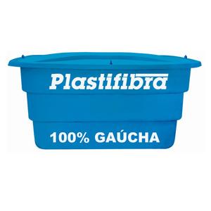 Caixa d'Água Fibra de Vidro 1000L Azul Plastifibra