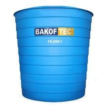 Caixa d'Água Fibra de Vidro 15000L Azul Claro Bakoftec